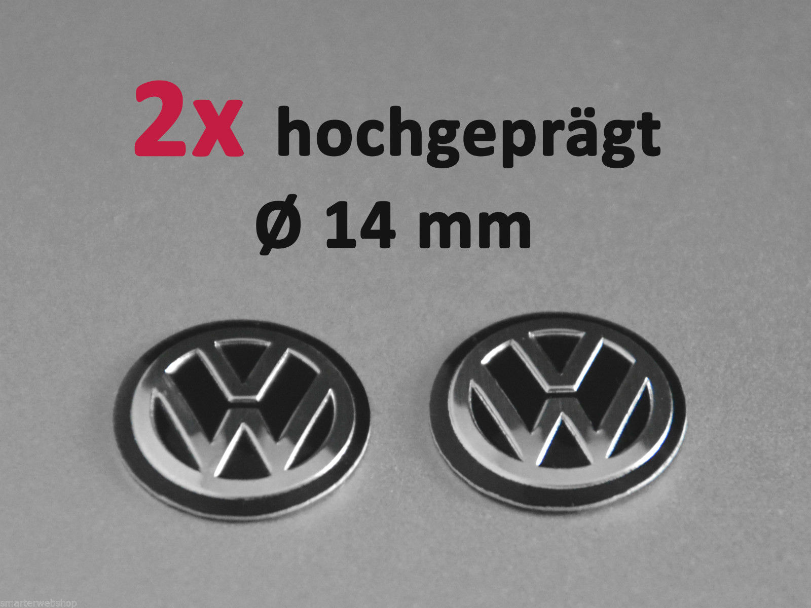 vw schwarz 3d schl ssel 2er set key fob alu emblem logo. Black Bedroom Furniture Sets. Home Design Ideas